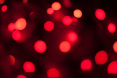 Bokeh röd bakgrund Royaltyfria Bilder