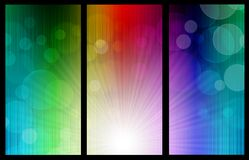 Bokeh rainbow banners Royalty Free Stock Image