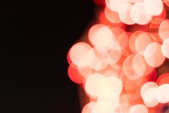 Bokeh of red light in the night