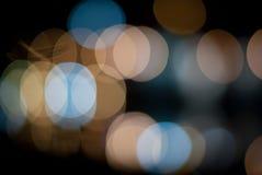 Bokeh reflecting pool at night Stock Photography