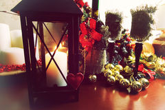 Bokeh retro de la forma del corazón Imágenes de archivo libres de regalías