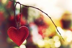 Bokeh retro de la forma del corazón Fotografía de archivo libre de regalías