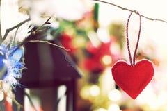 Bokeh retro de la forma del corazón Fotografía de archivo