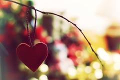Bokeh retro de la forma del corazón Fotos de archivo