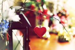 Bokeh retro de la forma del corazón Foto de archivo