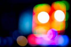 Bokeh robot. Robot bokeh lights home page Stock Images