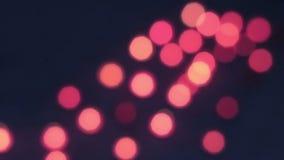 Bokeh rojo agradable del rojo de la lámpara almacen de video