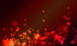 Bokeh rojo del hexogon Fotos de archivo