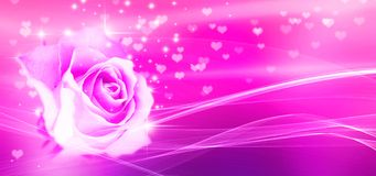 Free Bokeh, Rose And Hearts, Pink Background Stock Photography - 138213322