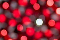 Bokeh rosso Fotografia Stock