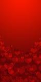 Bokeh rosso dei cuori come fondo Fotografie Stock