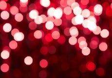 Bokeh rouge Photographie stock libre de droits