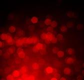 Bokeh rouge comme fond Images libres de droits