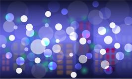 Bokeh round and blur as the abstract city. And the emotion good and Happy background. The vivid and bright and feels loved and used as a backdrop Royalty Free Stock Photo