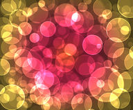Bokeh rounds  pattern. Colorfull pattern   bokeh   layers  pattern background effect Royalty Free Stock Photo