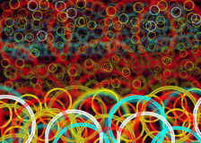 Bokeh rounds  pattern. Colorfull pattern   bokeh   layers  pattern background effect Royalty Free Stock Images