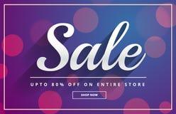 Bokeh sale voucher template design vector Stock Photos