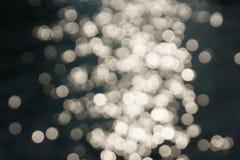 Bokeh scintillante del fondo di luce solare Fotografie Stock