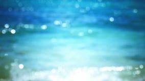 Bokeh scintillante del mare tropicale video d archivio