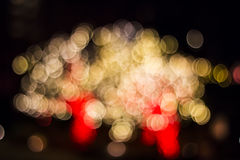 Bokeh of Seasonal Lights. In photography, bokeh is the aesthetic quality of the blur produced in the out-of-focus parts of an image produced by a lens. Bokeh has Royalty Free Stock Image