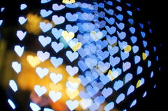 Bokeh series - blue hearts Stock Image