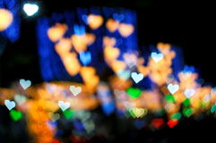 Bokeh series - colorful hearts Royalty Free Stock Image