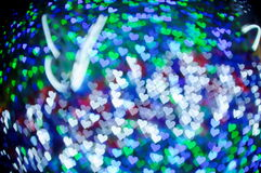 Bokeh series - colorful hearts Stock Photos