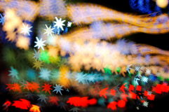 Bokeh series - colorful stars Royalty Free Stock Images