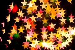 Bokeh series - stars Royalty Free Stock Images