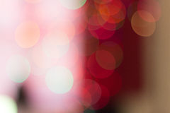 Bokeh of several Christmas lights. Against a light background Stock Photography