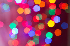 Bokeh of several Christmas lights. Against a light background Stock Image