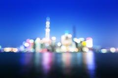 Bokeh of Shanghai skyline Royalty Free Stock Photos