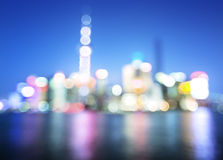 Bokeh of Shanghai skyline Royalty Free Stock Photography