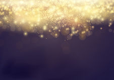 Bokeh Shine light Abstract Elegant Glow Background. Gold Shiny F Stock Photos