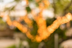 Bokeh shot at night of outdoor restaurant at night. stock photography