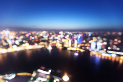 Bokeh of skyline at sunset time, Shanghai Stock Images