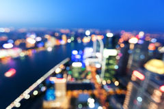 Bokeh of skyline at sunset time, Shanghai Royalty Free Stock Photography