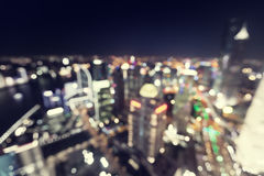 bokeh of skyline at sunset time, Shanghai Royalty Free Stock Photo