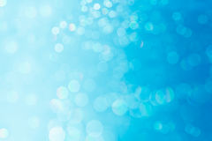 Bokeh soft pastel  blue and white background with blurred  lights. Royalty Free Stock Images
