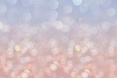 Bokeh soft pastel serenity background with blurred rainbow  lights Royalty Free Stock Photo