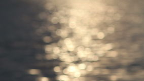 Bokeh solar path on the water, blur Stock Images