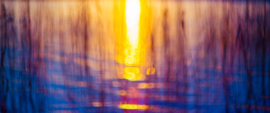 Bokeh-Sonnenuntergang Lizenzfreie Stockfotos