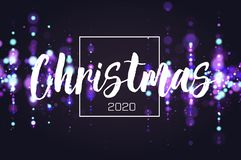 Bokeh sparkle Christmas 2020 background. Glitter lights luxury glamor background. Abstract defocused circular party. Magic christmas lights. New year glamorous vector illustration