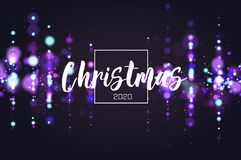 Bokeh sparkle Christmas 2020 background. Glitter lights luxury glamor background. Abstract defocused circular party. Magic christmas lights. New year glamorous royalty free illustration