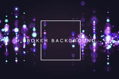 Bokeh sparkle glitter lights luxury glamor background. Abstract defocused circular party magic christmas background. New. Year glamorous elegant, shiny royalty free illustration
