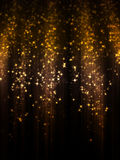 Bokeh and Sparkles. Bright background with colorful sparks and bokeh effect Stock Images