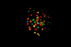 Bokeh spots of lights heart star and many Royalty Free Stock Image