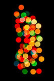 Bokeh spots of lights round shape and many Royalty Free Stock Photo
