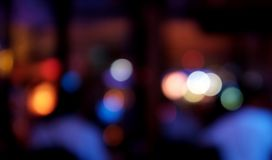Bokeh-Stangenhintergrund mit bunten Lichtern lizenzfreie stockbilder