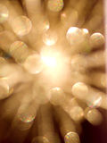 Bokeh Star. A burst of light in the shape of a star Royalty Free Stock Photography